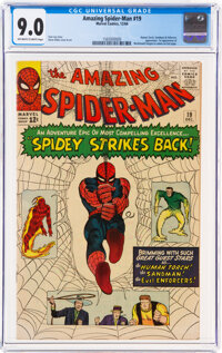The Amazing Spider-Man #19 (Marvel, 1964) CGC VF/NM 9.0 Off-white to white pages