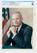 """Explorers:Space Exploration, Neil Armstrong: Original NASA 1964 """"Red Number"""" Business Suit Pose Color Photograph, Directly From The Armstrong Family Collec..."""