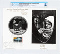 """Explorers:Space Exploration, Philatelia: """"The Eagle Has Landed"""" First Day Canceled Souvenir Card, Directly From The Armstrong Family Collection™, CAG Certi..."""