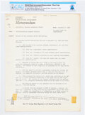 "Explorers:Space Exploration, NASA: Neil Armstrong's Copy of a Memorandum ""Results of the Eleventh AS-504 Flight Opportunities Program Meeting,"" December 5..."