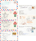 Explorers:Space Exploration, Test Pilots: Collection of Seven Individually Signed Phila...