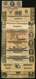 Confederate Notes:1864 Issues, 1912 Treasury Department Dispersal Letter with Envelope and Nine 1864 Notes Very Good or Better.. ... (Total: 11 items)