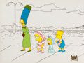 Animation Art:Production Cel, The Simpsons Marge, Lisa, Maggie and...