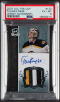 Hockey Cards:Singles (1970-Now), 2007 U.D. The Cup Tuuka Rask (Jersey Autograph) #172 PSA EX-MT 6. ...