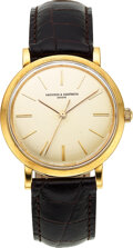 Timepieces:Wristwatch, Vacheron & Constantin, 18k Gold Wristwatch, Full Set, circa 1957. ...