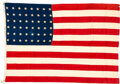 Military & Patriotic:WWII, D-Day Ship USS Buncombe County(LST-510) 48-Star Flag.. ...
