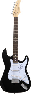 Musical Instruments:Electric Guitars, Amy Winehouse Signed Pickguard On Rocket Music Electric Gu...