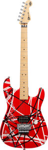 Musical Instruments:Electric Guitars, Eddie Van Halen Rare Custom Made and Stage Played Charvel Guitar Serial #229 (2007)....