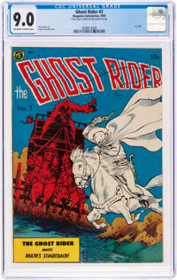 Ghost Rider #2 (Magazine Enterprises, 1950) CGC VF/NM 9.0 Off-white to white pages