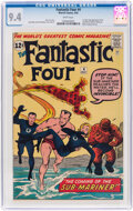 Silver Age (1956-1969):Superhero, Fantastic Four #4 (Marvel, 1962) CGC NM 9.4 White pages....