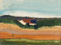 Paintings, Arthur Garfield Dove (American, 1880-1946). Fire Island Landscape, circa 1942-44. Watercolor on paper. 3 x 4 inches (7.6...