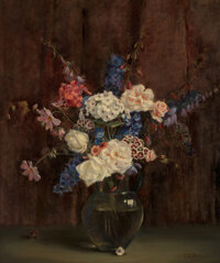 Charles Ethan Porter (American, 1847-1923) Floral Still Life Oil on canvas 24 x 20 inches (61.0 x