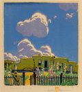 Gustave Baumann (American/ German, 1881-1971) Summer Clouds, 1925 Woodcut print in colors on paper