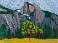 Paintings, Alyce Frank (American, b. 1932). The Meadow and Half Dome, Yosemite. Oil on canvas . 39 x 48 inches (99.1 x 121.9 cm). S...