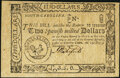 South Carolina December 23, 1776 $2 Remainder Choice About New