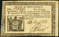 New Jersey January 9, 1781 1s Extremely Fine