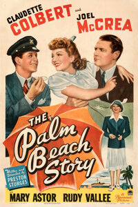"The Palm Beach Story (Paramount, 1942). Fine on Linen. One Sheet (27"" X 41"")"
