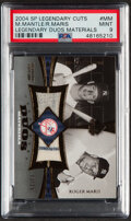 Baseball Cards:Singles (1970-Now), 2004 SP Legendary Cuts Mickey Mantle/Roger Maris Legendary Duos Materials Pants/Jersey Relic #DUJ-MM PSA Mint 9 - Serial Numbe...
