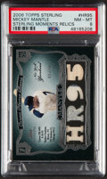 Baseball Cards:Singles (1970-Now), 2006 Topps Sterling Mickey Mantle Sterling Moments Jersey/Bat Relic Card #MM-HR95 PSA NM-MT 8 - Serial Numbered 6/10....