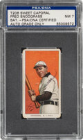 Autographs:Sports Cards, Signed 1909-11 T206 Sweet Caporal Fred Snodgrass (Batting)...