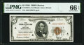 Fr. 1850-A $5 1929 Federal Reserve Bank Note. PMG Gem Uncirculated 66 EPQ