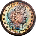 Proof Barber Quarters, 1914 25C PR68 PCGS. Each side of this 1914 proof B...