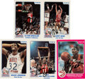 Autographs:Sports Cards, Signed 1985 & 1986 Star Co. Basketball Hall of Famers Collection (5). ...