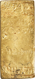 S.S. Central America Gold Ingots, Kellogg & Humbert MS Gold Ingot. 46.53 Ounces....