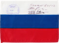 Explorers:Space Exploration, Expedition 12 Flown Russian Flag Signed by William S. McAr...