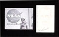 Explorers:Space Exploration, Scott Carpenter Signed Original Drawing with Silver Spaces...