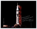 Explorers:Space Exploration, Walt Cunningham Signed Large Apollo 7 Launch Vehicle at Ni...