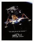 Explorers:Space Exploration, Charlie Duke Signed Large Apollo 11 Lunar Module