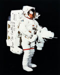 Explorers:Space Exploration, Bruce McCandless II Signed Large MMU Color Photo. ...