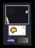 Explorers:Space Exploration, Apollo 13: Framed Display with Fred Haise Signed Apollo 13 Damaged Service Module Photo, and Apollo 13 Mission Aborted and Spl...
