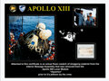 Explorers:Space Exploration, Apollo 13: Flown Swatch of Strapping Material on Certifica...