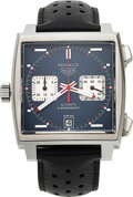 """Timepieces:Wristwatch, Tag Heuer, """"McQueen"""" Calibre 11 Blue Dial Automatic Chronograph. ..."""