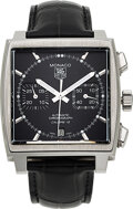 Timepieces:Wristwatch, Tag Heuer, Monaco, Stainless Steel Automatic Chronograph. ...