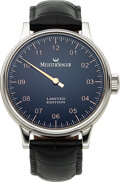 Timepieces:Wristwatch, Meistersinger, Limited Edition Single Hand Automatic, No. 015/333. ...