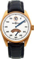 Timepieces:Wristwatch, Bell & Ross, Red Gold Vintage 123 Jump Hour Automatic With...