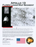 Explorers:Space Exploration, Apollo 13: Flown Lunar Map Segment on Illustrated Ken Have...