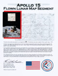 Explorers:Space Exploration, Apollo 15: Flown Lunar Map Segment on Illustrated Ken Have...