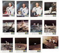 """Explorers:Space Exploration, Apollo 11: Set of Twelve Vintage Color Photos with """"First ..."""