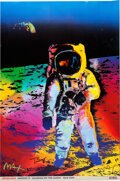 """Explorers:Space Exploration, Buzz Aldrin and Peter Max Signed Peter Max """"Apollo 11 - Walking on the Moon 1969/1999"""" Large Print, Originally from Aldrin's P..."""