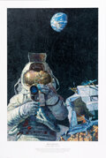 "Explorers:Space Exploration, Alan Bean Signed Limited Edition ""Moon Rovers"" Print, #467..."