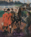 Works on Paper, Randall Davey (American, 1887-1964). Race Track, circa 1935-55. Pastel on paper. 38 x 24 inches (96.5 x 61.0 cm). ...
