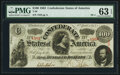 Confederate Notes:1863 Issues, T56 $100 1863 PF-1 Cr. 403 PMG Choice Uncirculated 63 EPQ....