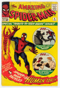 Silver Age (1956-1969):Superhero, The Amazing Spider-Man #8 (Marvel, 1964) Condition: VG+....
