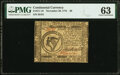Colonial Notes:Continental Congress Issues, Continental Currency November 29, 1775 $8 Fr. CC-18 PMG Choice Uncirculated 63.. ...