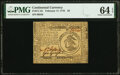 Continental Currency February 17, 1776 $3 Fr. CC-25 PMG Choice Uncirculated 64 EPQ