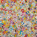 Prints & Multiples, Takashi Murakami (b. 1962). Flowers Blooming in This World and the Land of Nirvana, 2013. Offset lithograph in colors on...